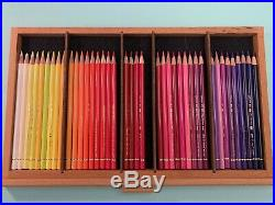 120 Faber-Castell Polychromos Color Pencils Lightly Used + Wooden Storage Box