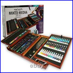 174-Piece Deluxe Craft Art Set Supplies Painting Drawing Kit in Wood Storage Box