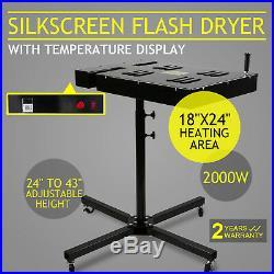 18x24 Flash Dryer Silkscreen Printing Heating Control Box Prints Infrared