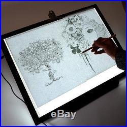 19 LED Artist Stencil Board Tattoo Drawing Tracing Table Display Light Box Pad