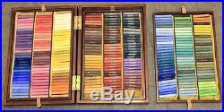 268 Colours pastel set Podolsk Artists Wooden box Pastels. Russian