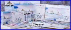 36PC Watercolor Paint Set Wooden Box Professional White Nights Nevskaya Palitra