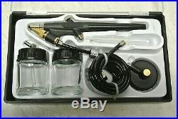 3 Airbrush Professional Master Airbrush Airbrushing System Kit Open Box