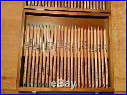 48 Karisma Colour Pencils in gorgeous wooden display box New & V. Gently Used