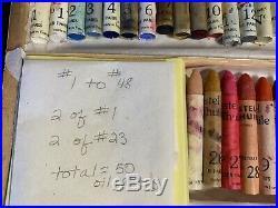 50 Sennelier Paris Oil Pastels Pastels à lhuile Wooden Box France