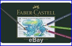 ALBRECHT DURER Aquarell Watercolor Pencils FABER-CASTELL 120 COLOURS OPEN BOX