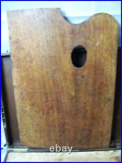ANTIQUE VICTORIAN ERA Mahogany Artists PAINTER Traveling Box