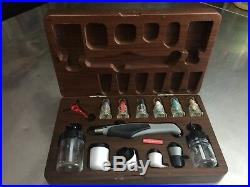 AZTEK A470 Airbrush kit in Wooden Box. (used)