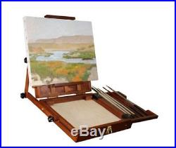 Air Artist Pochade Box Easel Medium Sienna Plein All Adjustments Canvas Holders