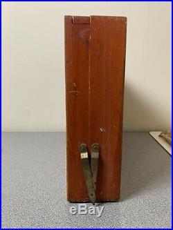 Anco Bilt Artist Case Temple University Wooden Dovetail Box Pallets Grumbacher