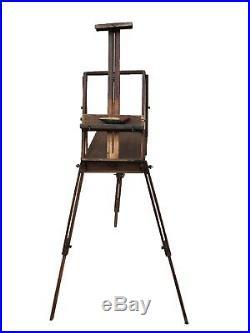Antique 20th C. French Jullian Design Innova Portable Box Easel Boite Chevalet