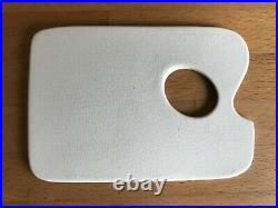 Antique Artist Mini Palette for Portable Paint Box Ceramic, thumb hole 4x3