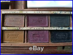 Antique Artist's Watercolour Paint Box 19th original blocks ALTER MALKASETEN @@@