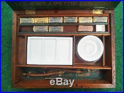Antique Artist's Watercolour Paint Box Reeves & Sons 19th original paint blocks