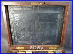 Antique Artists Watercolour Paint Box UM 1810 original blocks ALTER MALKASTEN