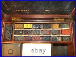 Antique Artists Watercolour Paint Box original blocks ALTER MALKASTEN J. NEWMAN