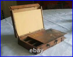 Antique Compact Lightweight Pochade Box probably early 20th century for travel