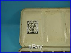 Antique PELIKAN WATERCOLOR PAINTS Nr. 67KH/7 Metal box