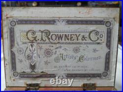 Antique Vintage Rowney artist artists paint box