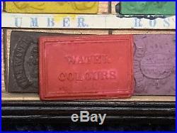 Antique Watercolour School Boys Artists Paint Box Art Painting