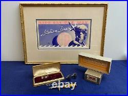 Antique Wold Air Brush Chicago Original Case, Box, Paperwork
