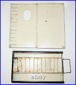 Antique watercolour metal foldable palette box Clifford Milburn & Co 1936-9 RARE