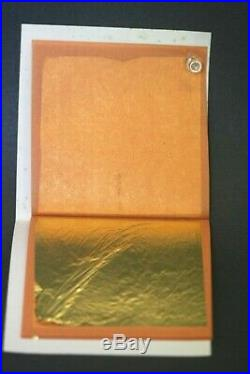 Art Supplies Gold Leaf 22k 500 sheet Made In Italy Best XX Glass Gold Leaf Boxed