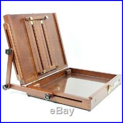 Artist Easel Palette Pochade Box Wood Canvas Painting Watercolor Oil Acrylic Art