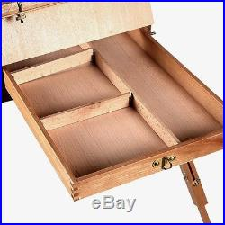 Artist French Easel Wooden Sketch Box Tripod Portable Folding Durable Painters