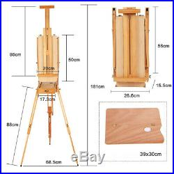 Artist Painter Tripod Portable Folding Durable French Easel Wooden Sketch Box