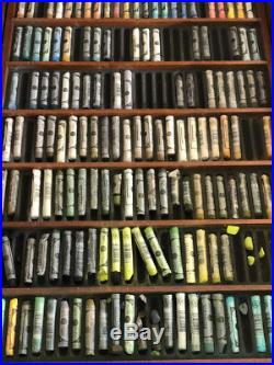 Artist pastel supplies Sennelier soft pastels wood box set 525 assorted colors