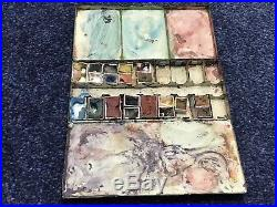 Artists Vintage Winsor Newton Patent Letters Watercolour Paint Box Painting Art