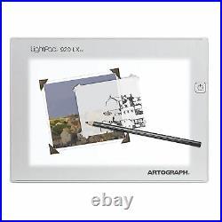 Artograph 25950 LightPad 24x17 Inch Artist Light Box for Tracing/Drawing, Silver
