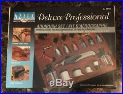 Aztek A4709 Deluxe Testors Professional Airbrush 15 Piece Set New In Box