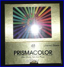 BEROL PRISMACOLOR Limited Edition 48 Ct Vintage Sealed Gold Box Set NEW RARE
