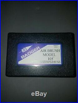 Badger Air-Brush Co. 105 Patriot Fine Gravity Airbrush NEW OPEN BOX, SEE PICS