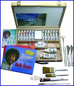 Bob Ross Masterset Deluxe Landscape Wooden Box Set