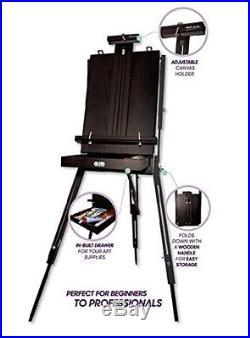 Box Easel Artist Sketch Portable Wooden Folding Tripod Painters Table Paint New