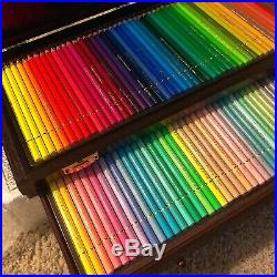 Brand New Holbein Artist Colored Pencil 100 In Wooden Box