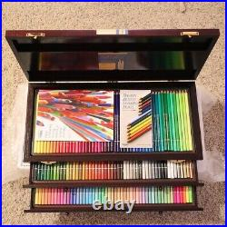 Brand New Holbein Artist Colored Pencil 150 In Wooden Box