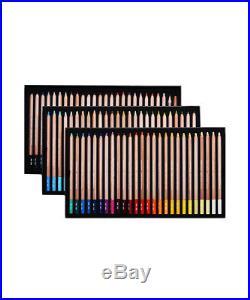 CARAN DACHE PASTEL PENCILS Box of 76 assorted colour fine dry pastel pencils