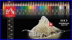 CARAN DACHE PRISMALO COLOUR PENCILS Box of 80 assorted watercolour pencils