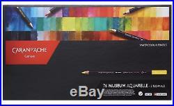 CARAN dACHE MUSEUM AQUARELLE COLOUR PENCILS 76 Watercolour Pencil Box