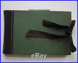 C. Roberson & Co ANTIQUE painting sketchbook & miniature watercolour metal box