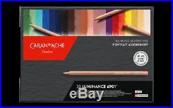 Caran D'Ache Luminance 6901 Portrait Set 20 Pencils Box Limited Edition