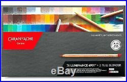 Caran D'Ache Luminance Artist Colour Pencils 76 Box Set Highe Quality Lightfast