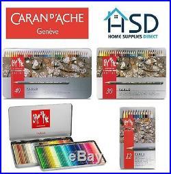 Caran D'Ache Pablo Professional Artists Colour Pencils Tin Sets 12/18/30/40/80