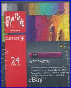 Caran D'ache Dache 24 or 96 piece Neopastel Oil Pastels Extra fine NEW box set