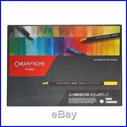 Caran D'ache Museum Aquarelle Soft Watercolour Pencil Set 40 Colour Box