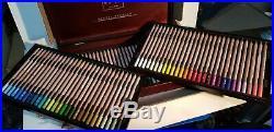 Caran D'ache Pastel Pencils 84 Colour Beautiful Wooden Box